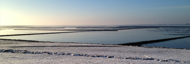 Nordstrand im Winter