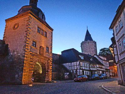 Frauentor und Rabenturm in Mühlhausen. © Foto: Uwe von Schirp
